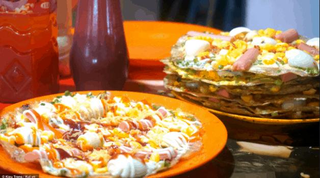 Bánh tráng nướng đầy màu sắc