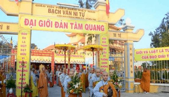 Lễ Đại giới đàn tâm quan tại Chùa Bạch Văn Ni Tự - Bến Tre