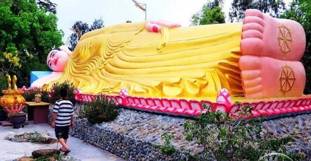 Tượng Phật nằm trong chùa Từ Vân (Ảnh ST)