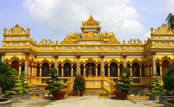 Chùa Vĩnh Tràng - Di tích kiến trúc độc đáo tại Bến Tre