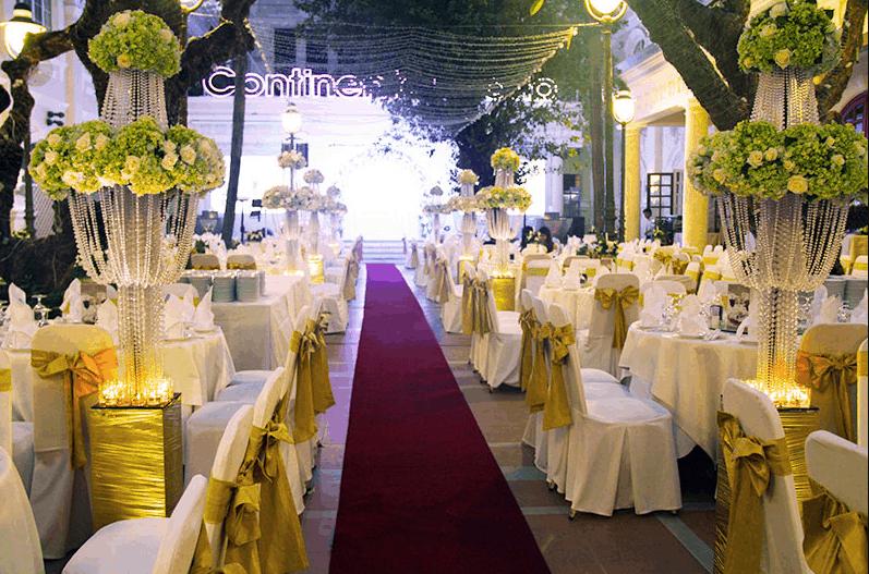 Tại khách sạn Continenta có nhiều sảnh cưới đẹp cho bạn lựa chọn