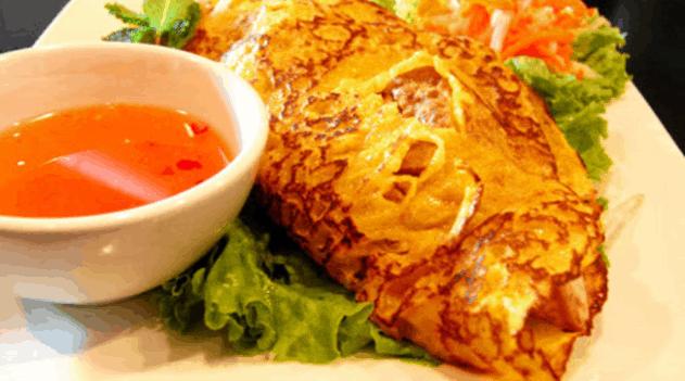 Đến Bến Tre thưởng thức đặc sản bánh xèo ốc gạo