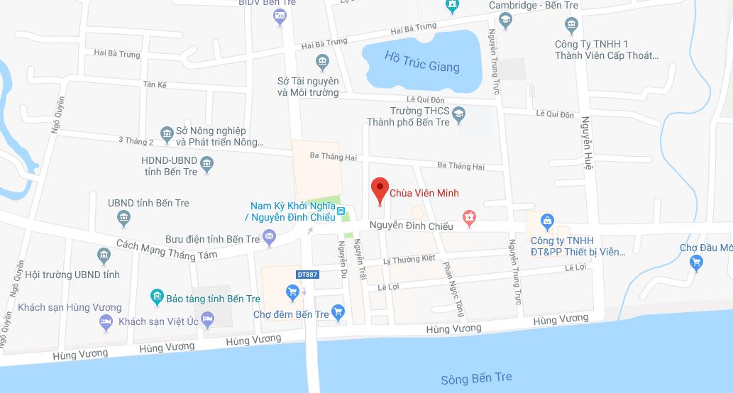 Địa chỉ chùa Viên Minh trên bản đồ