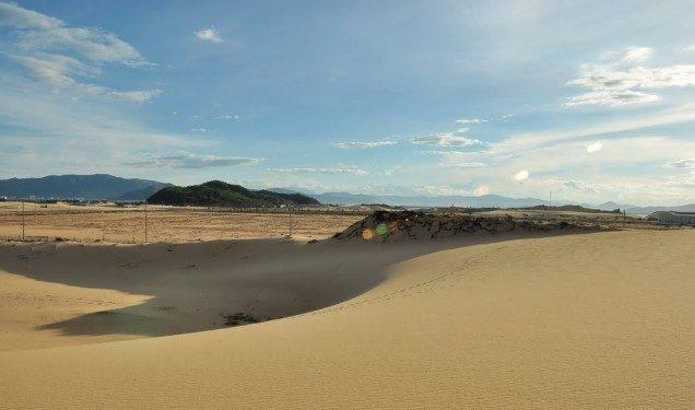 Mỗi ngày hình dạng vân cát thay đổi khác nhau, phụ thuộc vào gió biển Nhơn Lý và tạo thành hình thù độc đáo (Ảnh ST)