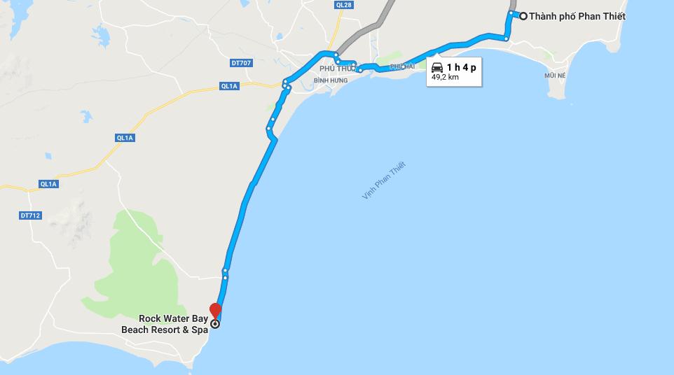 Đường đi tới Rock Water Bay từ Phan Thiết