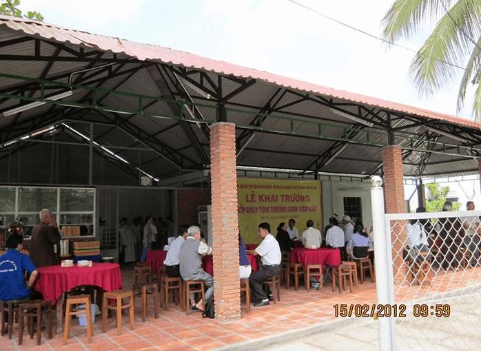 Khu nhà ăn trong chùa Viên Giác