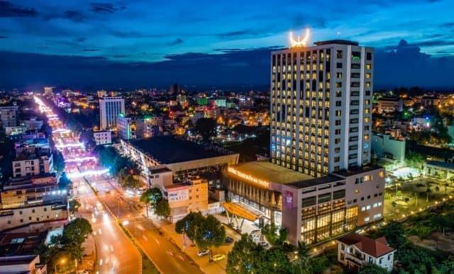 Khách sạn Mường Thanh Buôn Ma Thuột nhìn từ trên cao (Ảnh ST)