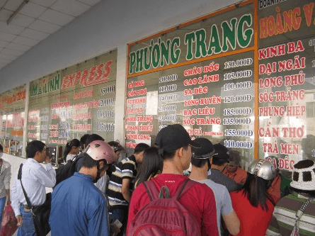 Mua vé xe đi Kiên Giang tại các quầy vé