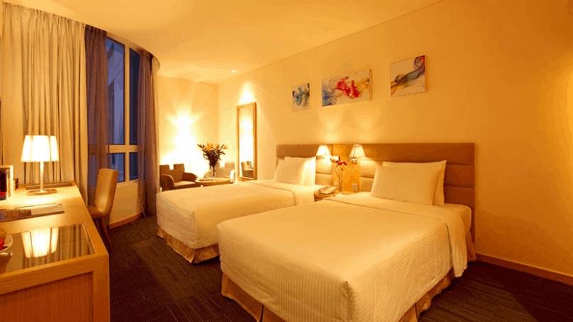 Phòng nghỉ 2 giường tại khách sạn Liberty Central