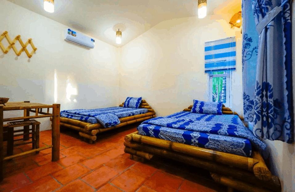Không gian phòng nghỉ tại khách sạn Coco Farmstay