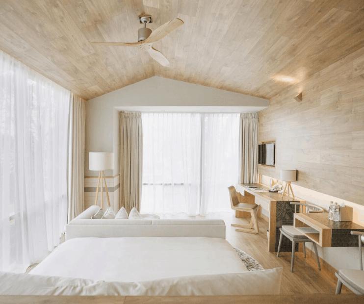 Phòng nghỉ Fusion Suites có lối thiết kế đơn giản mà hiện đại