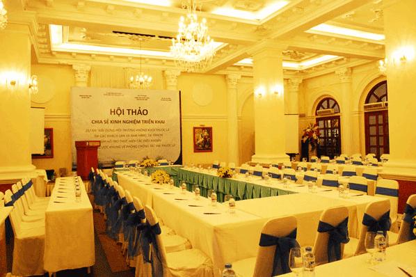 Phòng tổ chức hội thảo tại Hotel Continental Saigon
