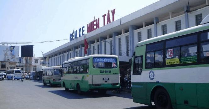 Ra bến xe miền Tây bắt xe về Kiên Giang