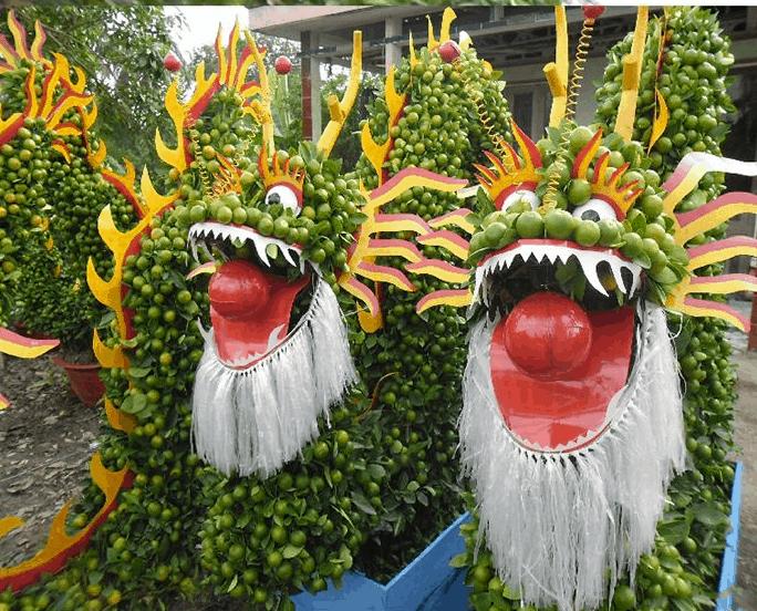 Tạo hình con vật từ những loại trái cây khác nhau