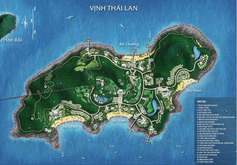 Toàn cảnh dự án Sun World Hon Thom Nature Park