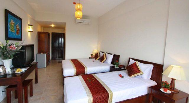 Phòng nghỉ sạch sẽ, thoáng mát trong khách sạn (Ảnh ST)