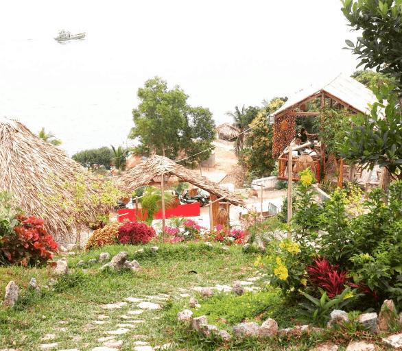 Không gian tràn ngập cây cỏ ở Humiso