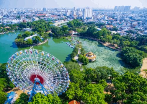 Công viên văn hóa Đầm Sen với hơn 50 trò chơi từ thư giãn đến cảm giác mạnh