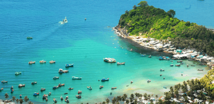 Bãi Cây Mến - một trong những bãi biển đẹp của quần đảo Nam Du