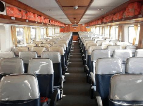 Tàu Ngọc Thành có ghế ngồi mềm
