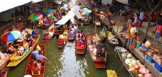 Khu chợ nổi nổi tiếng của Thái Lan (Ảnh ST)