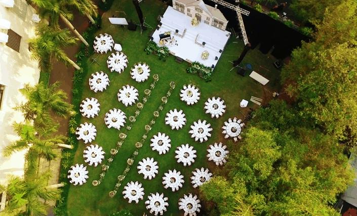Khu tổ chức lễ cưới ngoài trời tại khách sạn Lotte Legend
