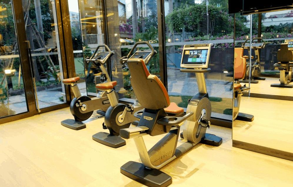 Phòng tập thể dục được trang bị đầy đủ dụng củ tập luyện