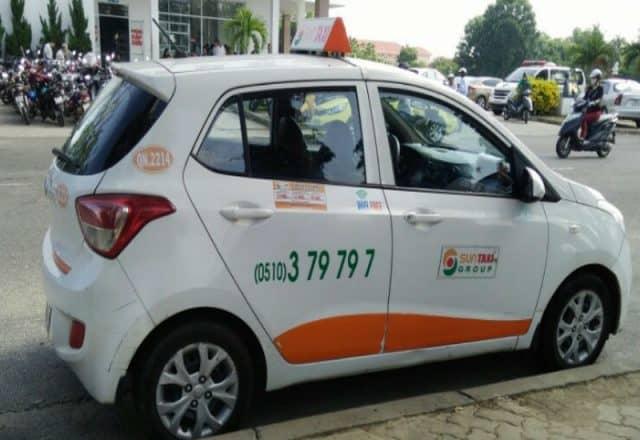 Sun Taxi - thương hiệu Taxi Hội An cũng rất nổi tiếng (Ảnh ST)