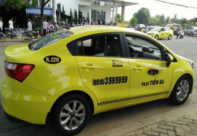 Hãng Taxi Tiên Sa với màu vàng bắt mắt (Ảnh ST)