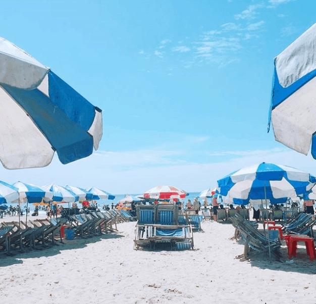 Bãi Sau sóng êm biển lặng thích hợp cho việc tắm biển (ảnh ST)