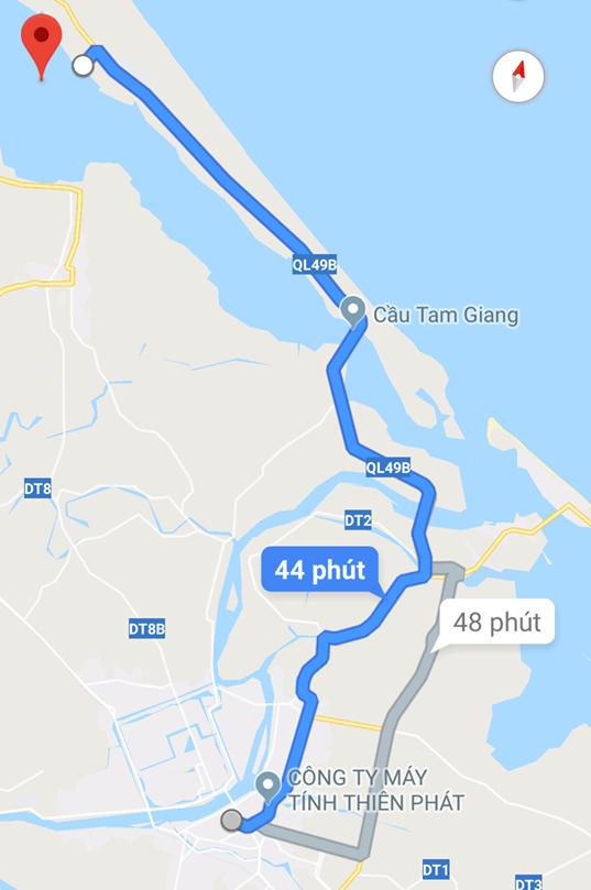 Bản đồ Rú Chá Huế. (Ảnh: ST)