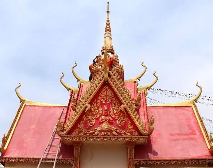 mái vòm chùa Xiêm Cán