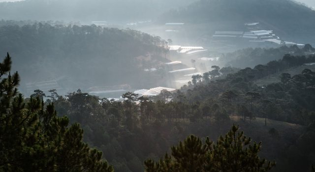 Beautiful view from the top of Thien Phuc Duc hill.  (Photo: ST)