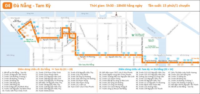 Lộ trình xe bus Đà Nẵng Tam Kỳ (Ảnh ST)