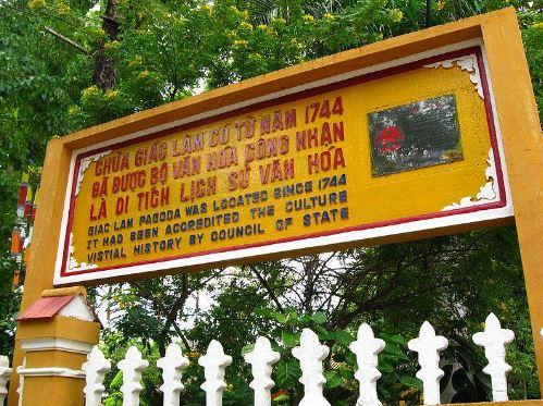 bảng xếp hạng di tích lịch sử văn hóa chùa giác lâm