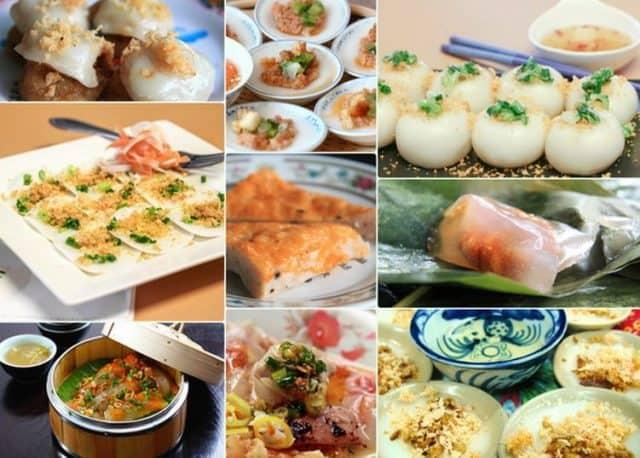 Các loại bánh nổi tiếng ở Huế (Ảnh: ST)