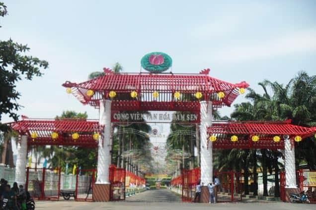 cổng công viên văn hóa đầm sen