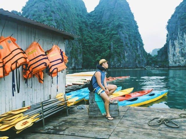 Chèo thuyền Kayak ở đảo Nam Cát