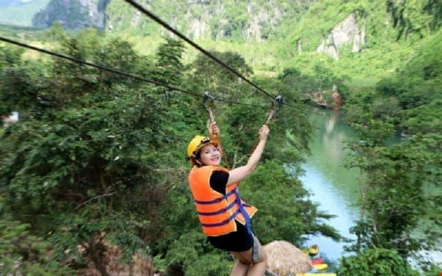 Đường zipline ở Hòa Phú Thành