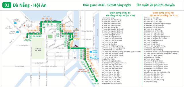 Lộ trình xe bus Đà Nẵng Hội An (Ảnh ST)