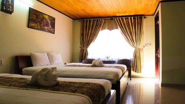 Phòng nghỉ dưỡng thiết kế đơn giản (Ảnh: ST)