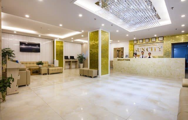 Sảnh khách sạn Sun City tại Nha Trang (Ảnh ST)