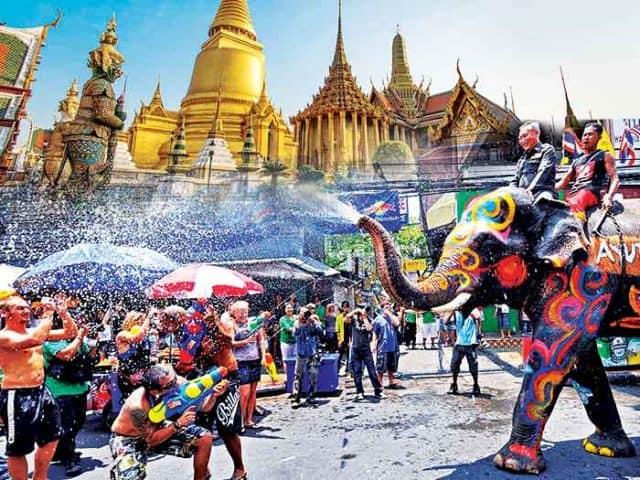 Lễ hội Songkaran Thái Lan (Ảnh ST)