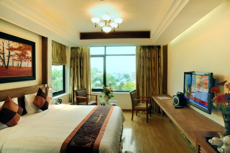 Phòng ngủ resort Văn Minh