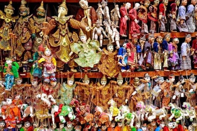 Những con rối - biểu trưng của nghệ thuật múa rối cạn truyền thống Myanmar (Ảnh ST)