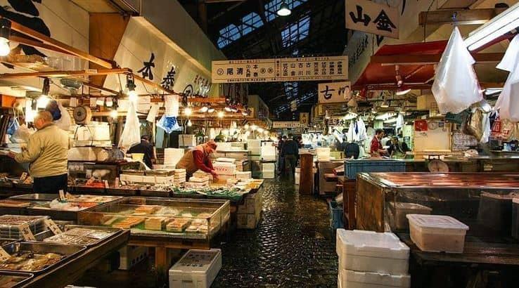 khu bên trong Tsukiji