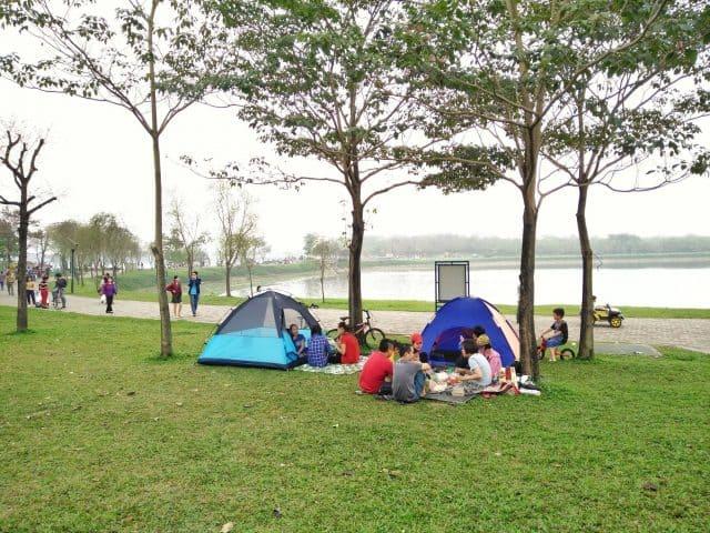 Nhiều hoạt động vui chơi thú vị tại Ecopark (Ảnh: ST)