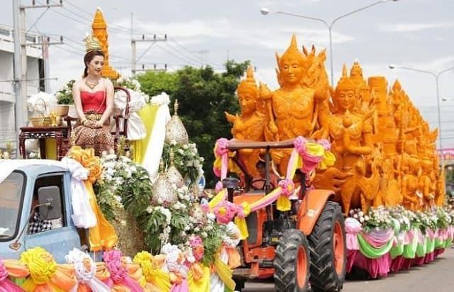 Lễ hội Phật giáo Khao Phansa (Ảnh ST)
