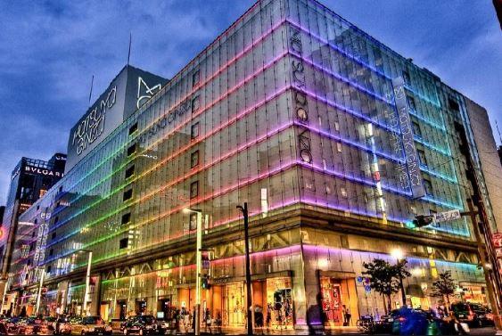 Một khu trung tâm thương mại tại phố Ginza