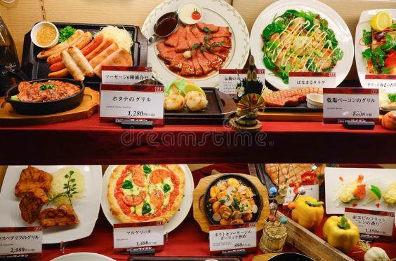 Những mô hình đồ ăn bằng nhựa tại phố Kappabashi
